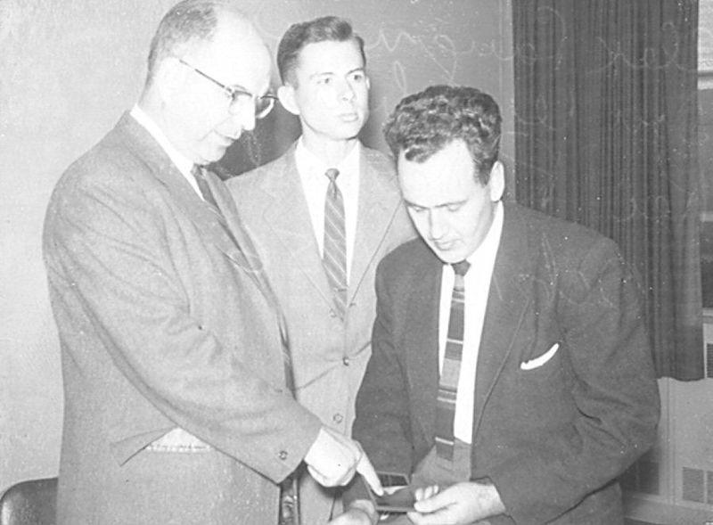 CDC - Alex Langmuir, Don Wysham, & Rei Ravenholt - Oct. 12, 1956.jpg